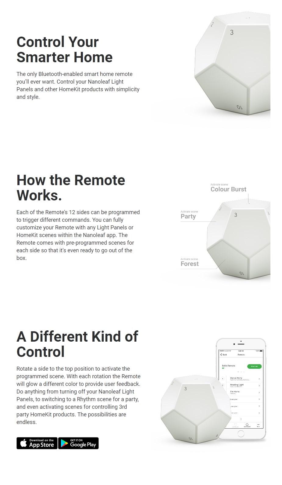 Nanoleaf Remote - Overview 1
