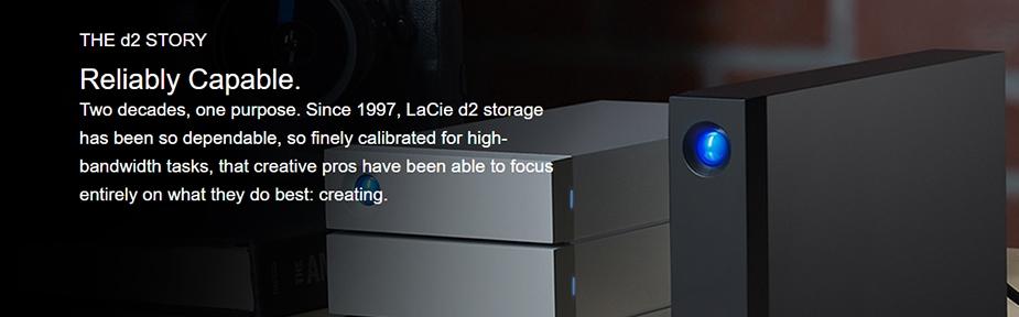 LaCie d2 Professional 8TB 7200RPM USB 3.1 Desktop Hard Drive - Desktop Overview 1