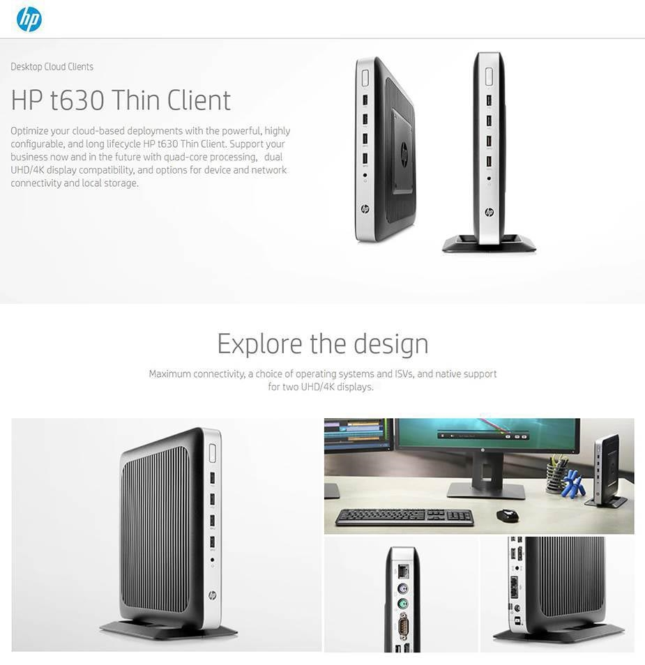 HP t630 Thin Client AMD Quad-core CPU 4GB 32GB Radeon R6E WES7E WIFI + BT - Desktop Overview 1