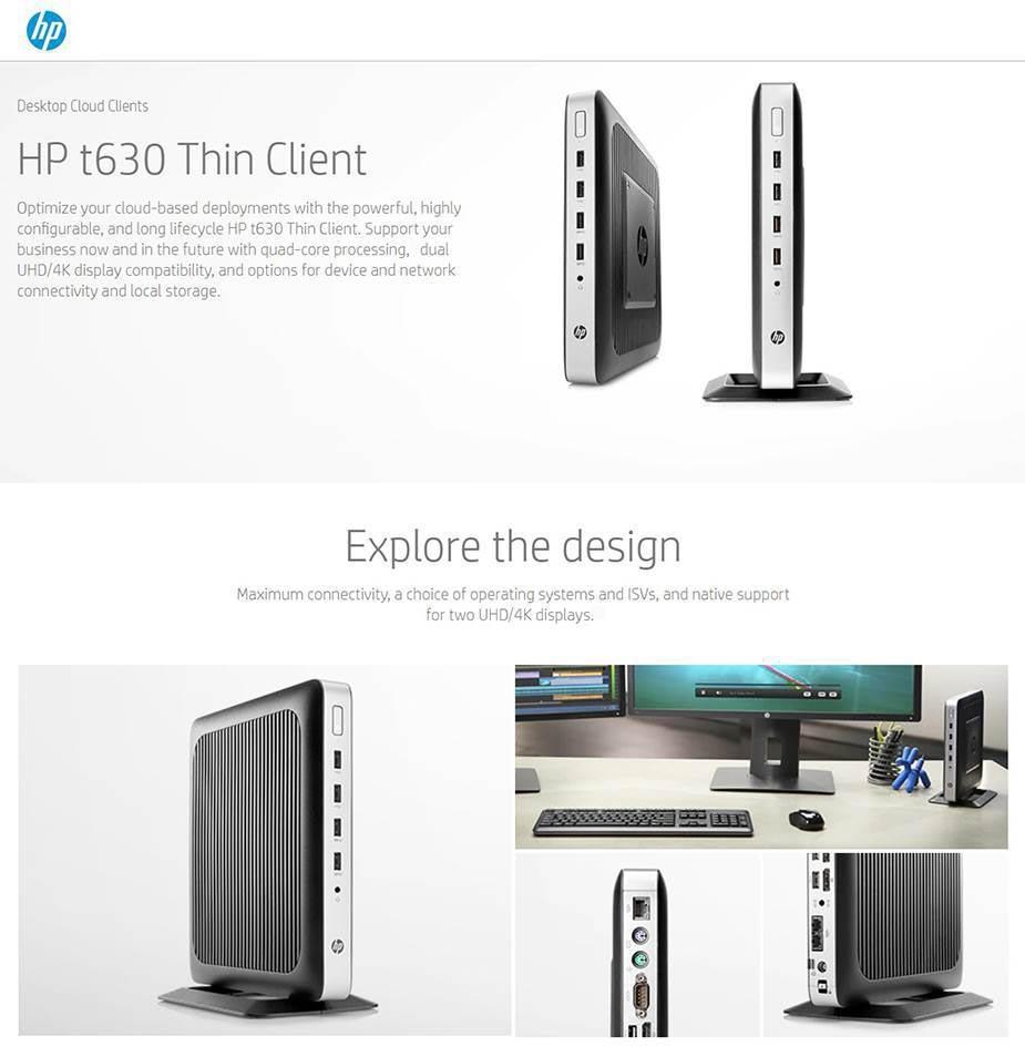 HP t630 Thin Client AMD Quad-core CPU 8GB 32GB Radeon R6E WES7E WIFI + BT - Desktop Overview 1