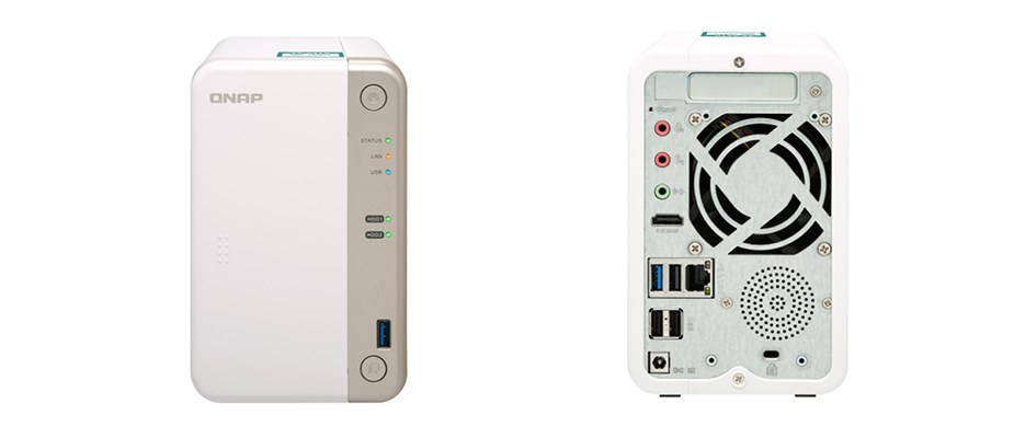 QNAP TS-251B-2G 2 Bay Diskless NAS Dual-Core 2.0 GHz 2GB RAM - Desktop Overview 1