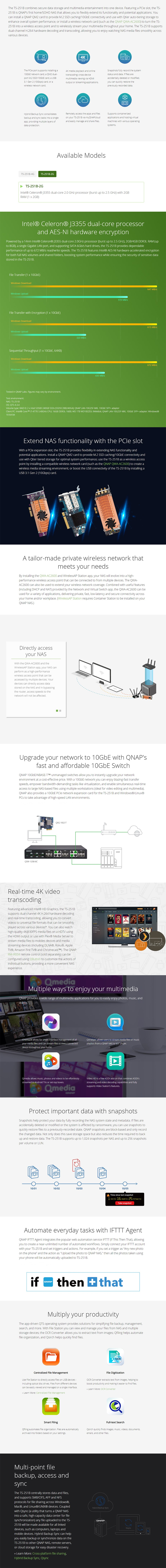 QNAP TS-251B-2G 2 Bay Diskless NAS Dual-Core 2.0 GHz 2GB RAM - Desktop Overview 2