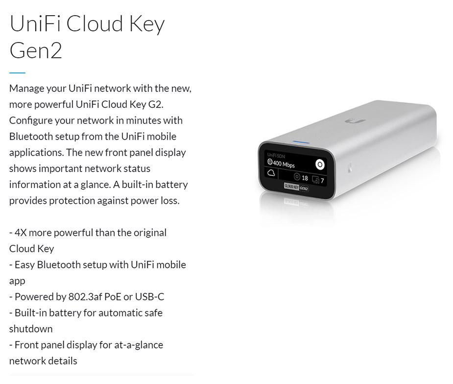 Ubiquiti Networks UCK-G2 Unifi Cloud Key Gen2 - Desktop Overview 1