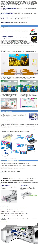 Epson EB-685W WXGA 3LCD Ultra Short Throw Data Projector - Desktop Overview 1