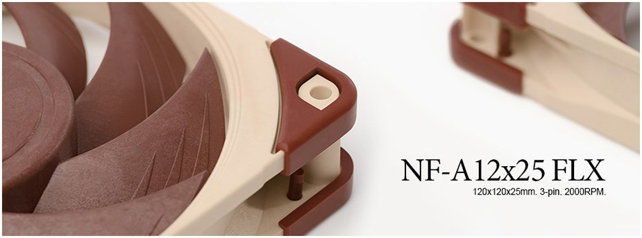 Noctua NF-A12x25 FLX 120mm Fan - Desktop Overview 1