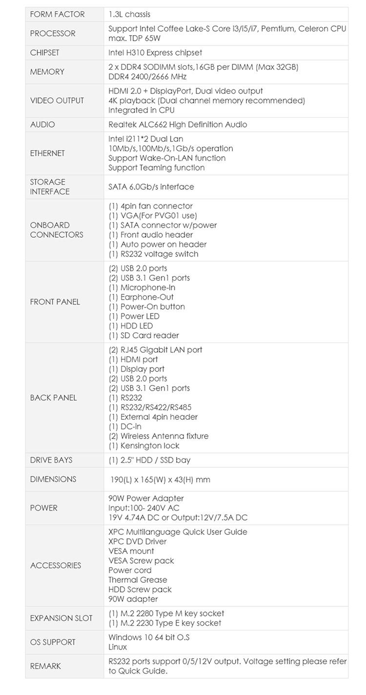 Shuttle DH310 Slim Barebone PC - Desktop Overview 2