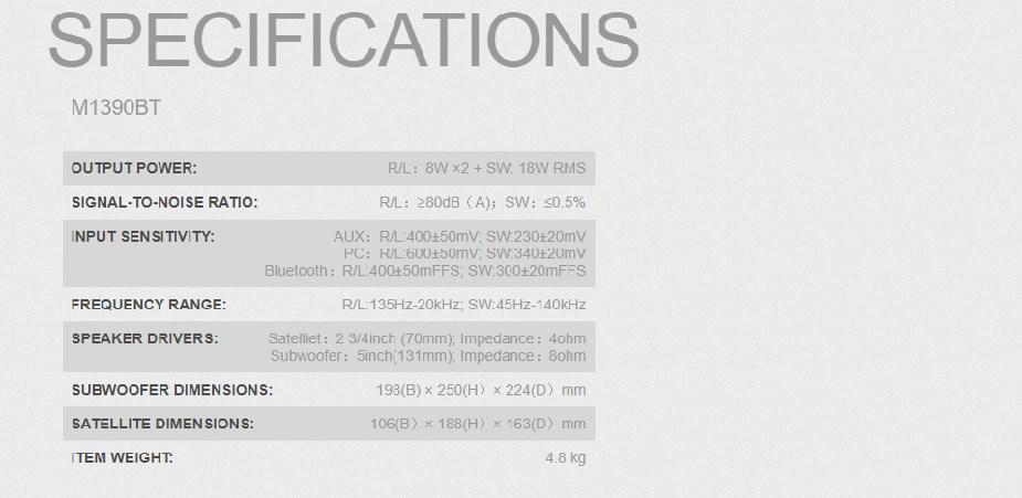 Edifier M1390BT 2.1 Bluetooth Multimedia Speakers - Desktop Overview 2