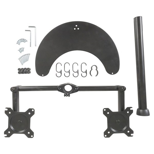 """PC Dual Monitor Desk Stand from 13""""-27"""" - CW2880 - Desktop Overview 2"""
