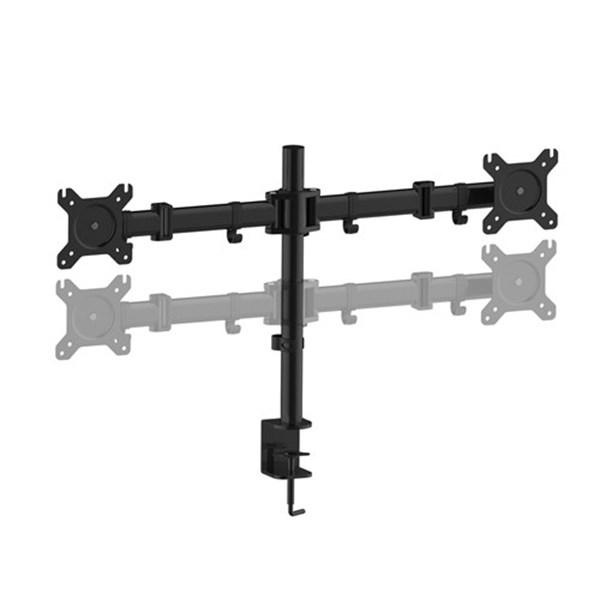 "PC Dual Monitor Desk Bracket from 13""-27"" - CW2875 - Desktop Overview 5"