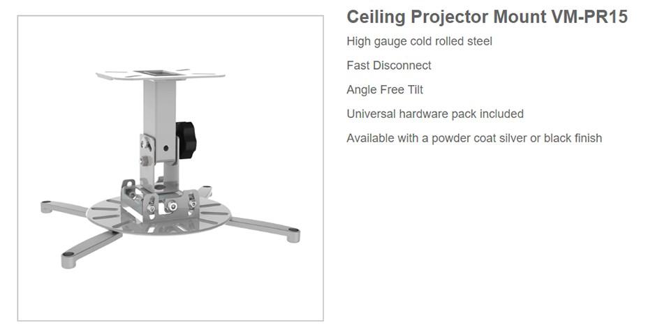 Vision Mounts VM-PR15 Ceiling Projector Mount - Desktop Overview 1