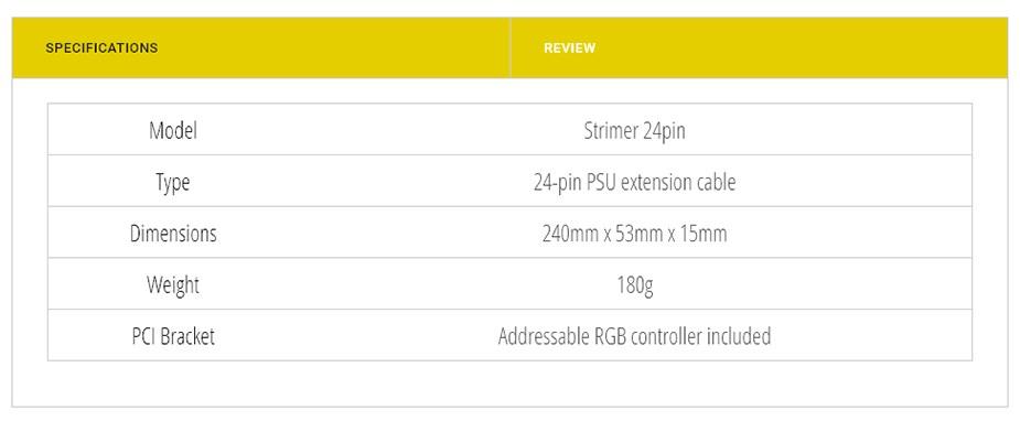 Lian-Li Strimer 24 Pin RGB PSU Extension Cable - Desktop Overview 3