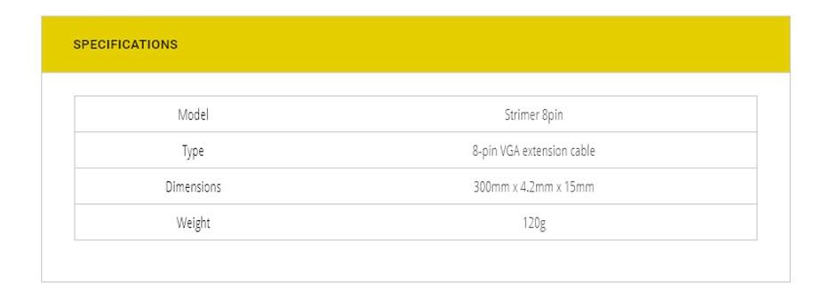 Lian-Li Strimer 8 Pin RGB PSU Extension Cable - Desktop Overview 3