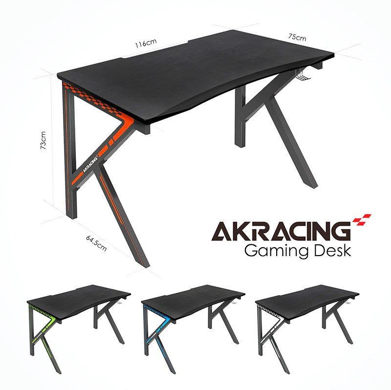 AK Racing Gaming Desk - Black - Desktop Overview 1