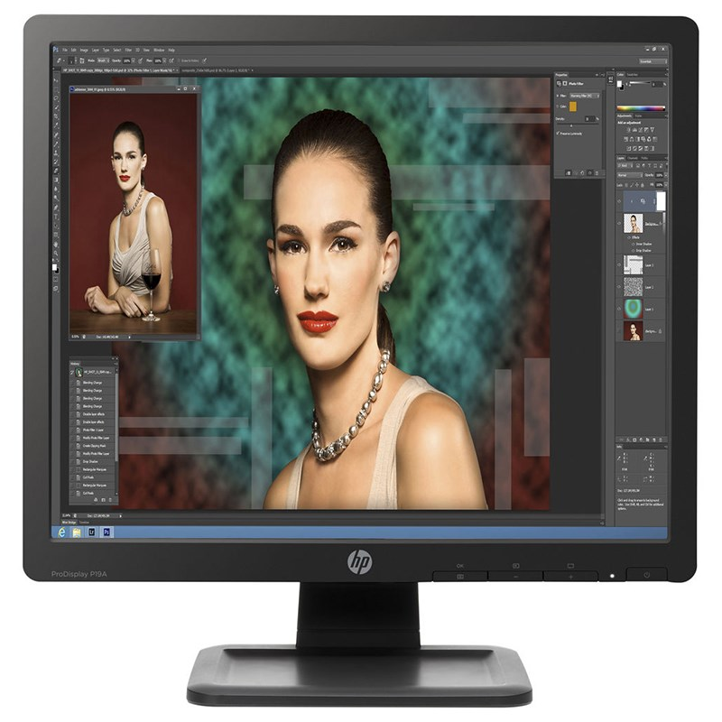"HP ProDisplay P19A 19"" SXGA TN Monitor - Desktop Overview 1"