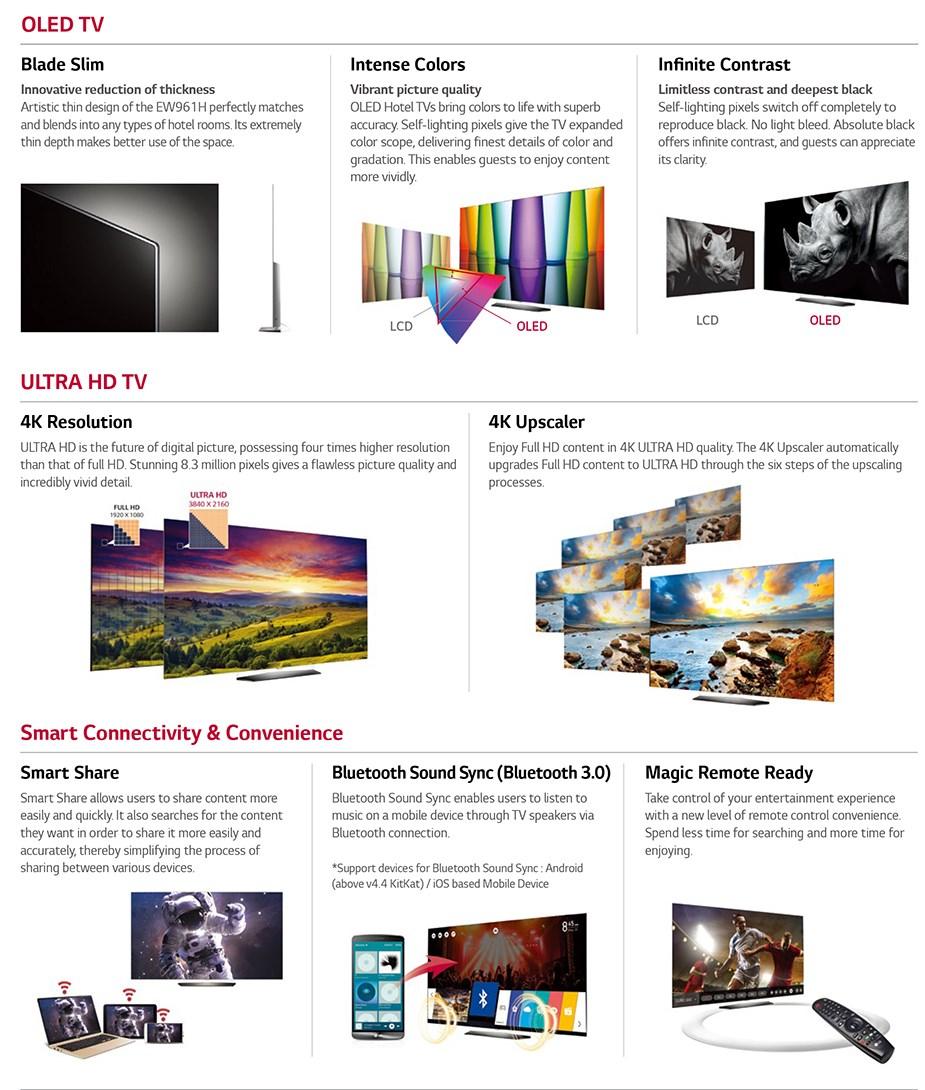 """LG EW961H 55"""" 4K UHD Commercial OLED TV - Desktop Overview 3"""