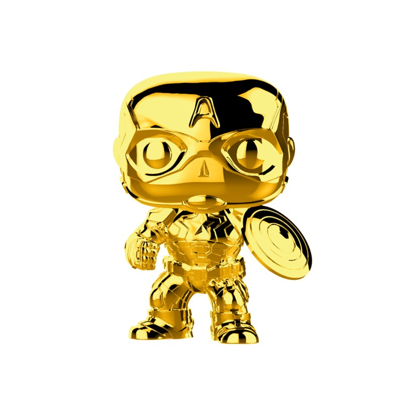 Marvel Studios 10th Anniversary - Captain America Gold Chrome Pop! Vinyl - Desktop Overview 1