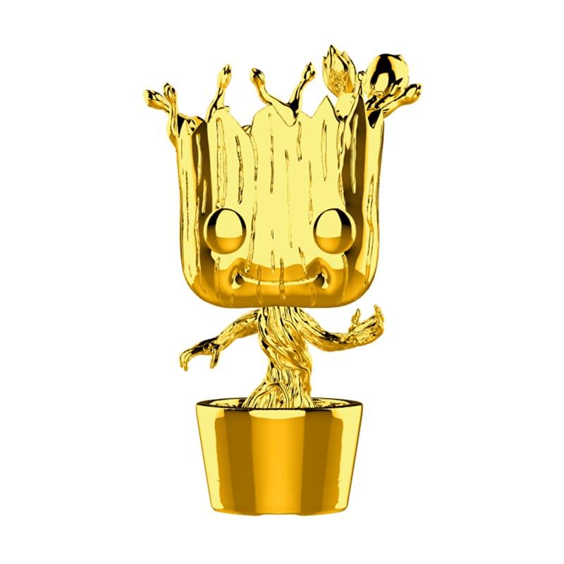 Marvel Studios 10th Anniversary - Groot Gold Chrome Pop! Vinyl - Desktop Overview 1