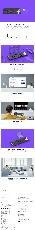 Logitech K600 Smart TV Keyboard - Desktop Overview 1
