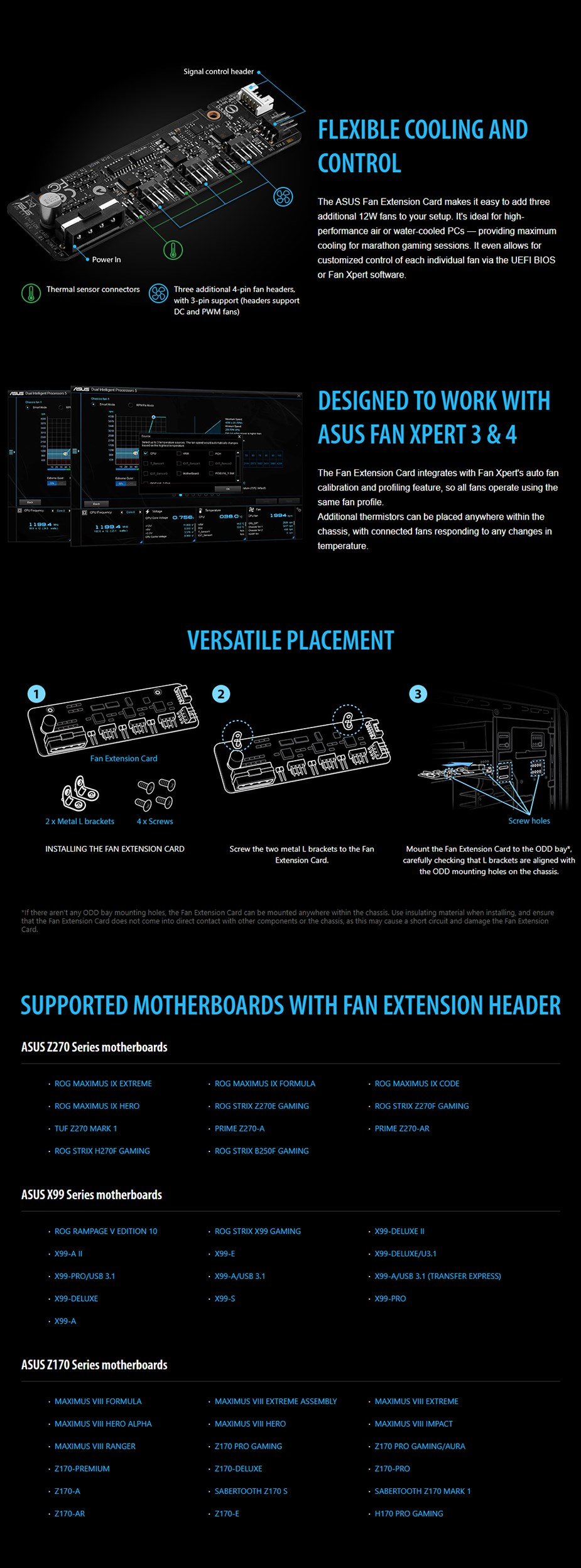 ASUS Fan Extenstion Card - Desktop Overview 1