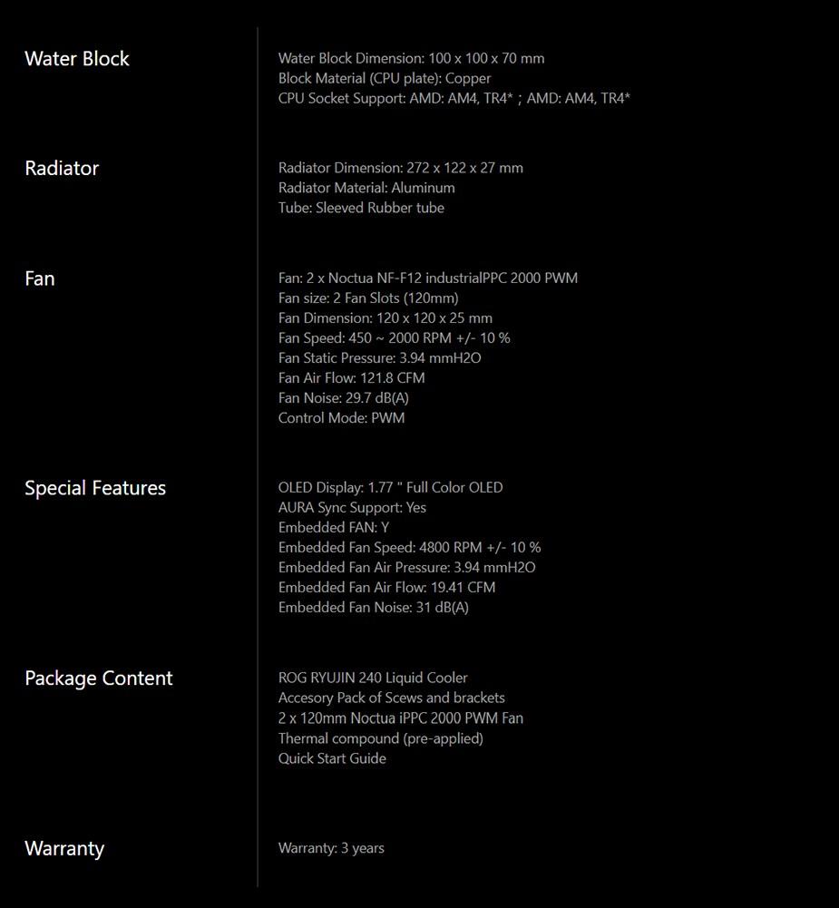 ASUS ROG Ryujin 240 AiO OLED PWM Liquid CPU Cooler - Desktop Overview 2