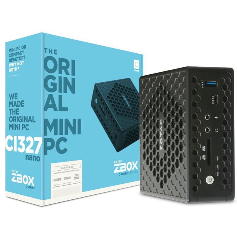 Zotac ZBOX-CI327 Nano Barebore Mini-PC - Intel N3450 Quad Core Processor - Desktop Overview 1