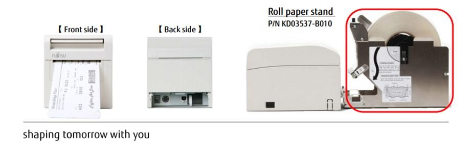 Fujitsu F9860 Compact Boarding Pass & Baggage Tag Printer - Desktop Overview 2