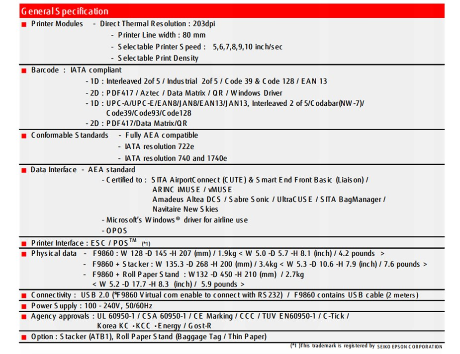 Fujitsu F9860 Compact Boarding Pass & Baggage Tag Printer - Desktop Overview 4