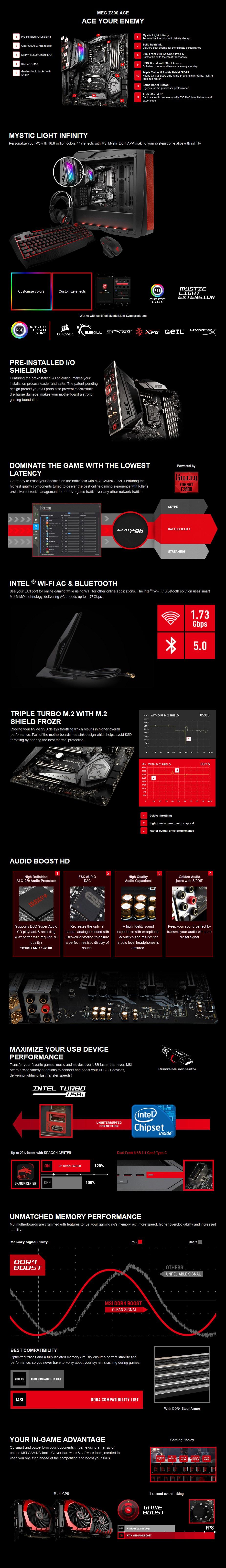 MSI MEG Z390 ACE LGA 1151 ATX Motherboard - Desktop Overview 1