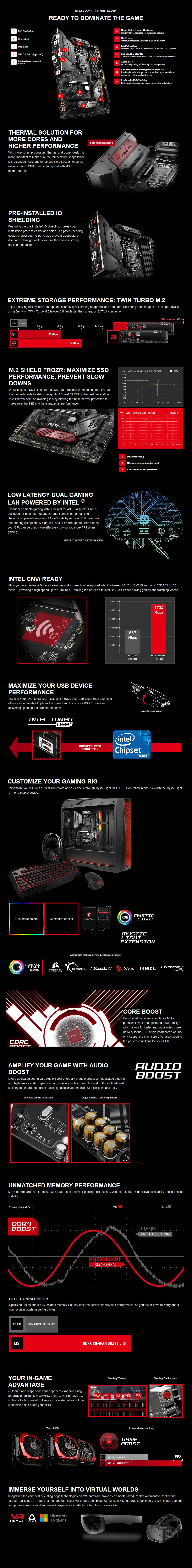 MSI MAG Z390 TOMAHAWK LGA 1151 ATX Motherboard - Desktop Overview 1