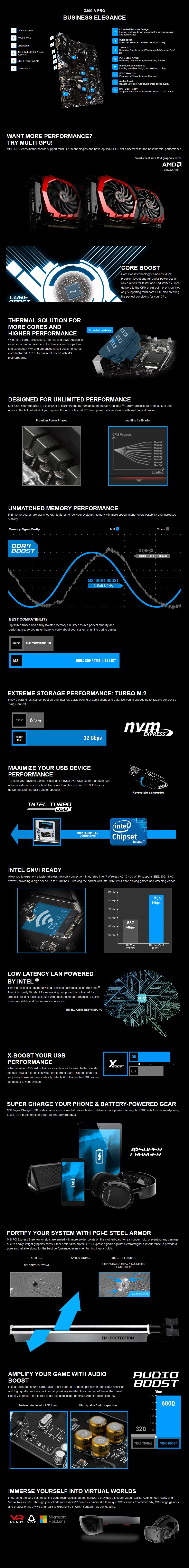 MSI Z390-A PRO LGA 1151 ATX Motherboard - Desktop Overview 1