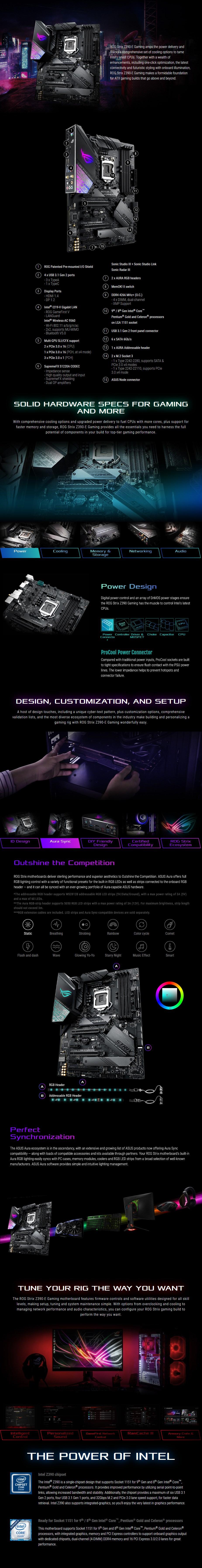 ASUS ROG Strix Z390-E GAMING LGA 1151 ATX Motherboard
