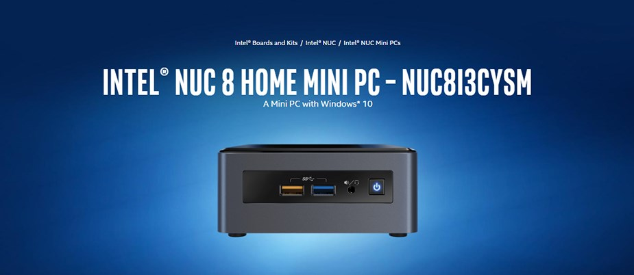 Intel NUC8I3CYSM NUC Mini PC i3-8121U 8GB 1TB Radeon 540 Win10 Pro - Desktop Overview 2