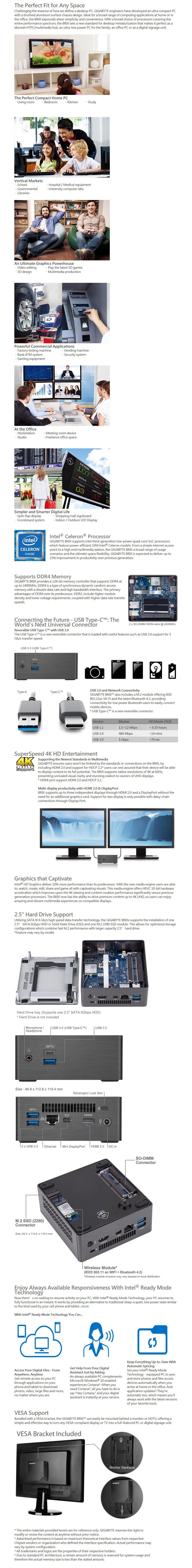 DIY Bundle Deal: Gigabyte Brix Celeron J4105 + 4GB RAM + 120GB SSD