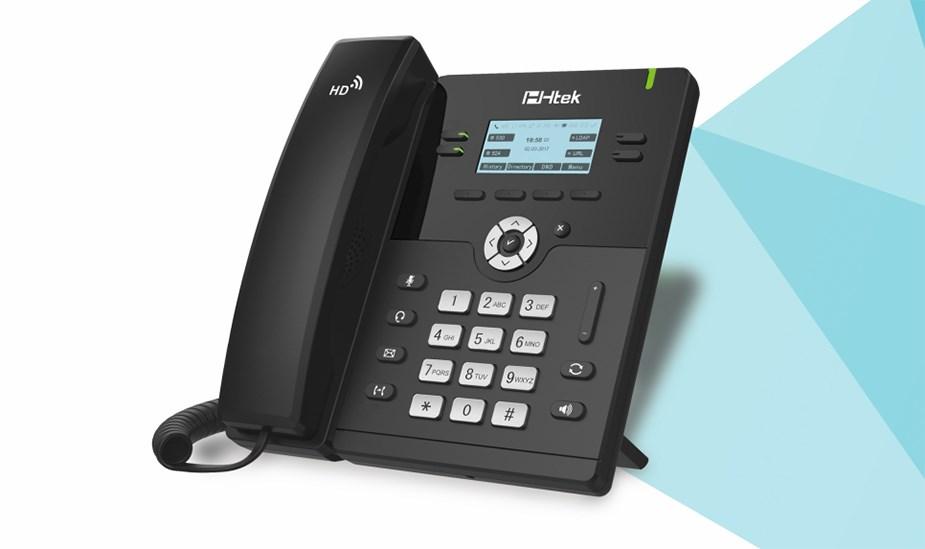 Htek UC912E WiFi/Bluetooth IP Phone - Desktop Overview 1