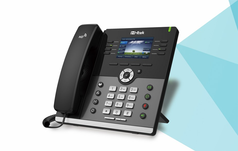 Htek UC924E WiFi/Bluetooth IP Phone - Desktop Overview 1