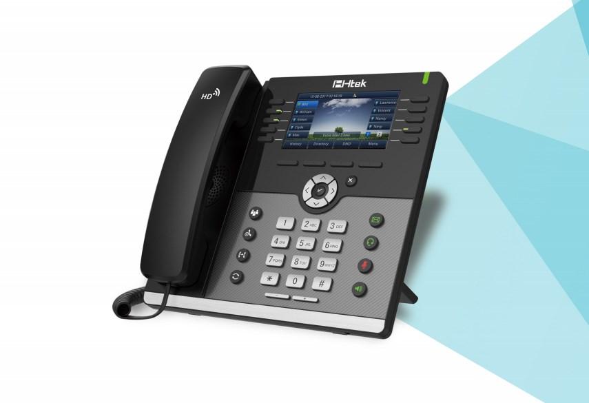 Htek UC926 Gigabit Color IP Phone - Desktop Overview 1