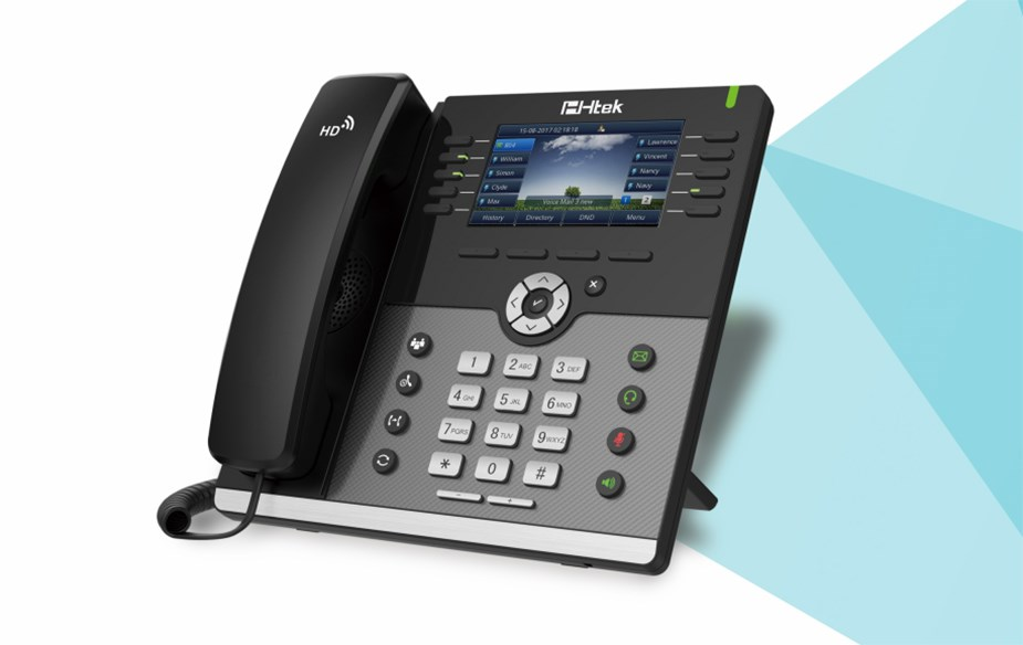 Htek UC926E WiFi/Bluetooth IP Phone - Desktop Overview 1