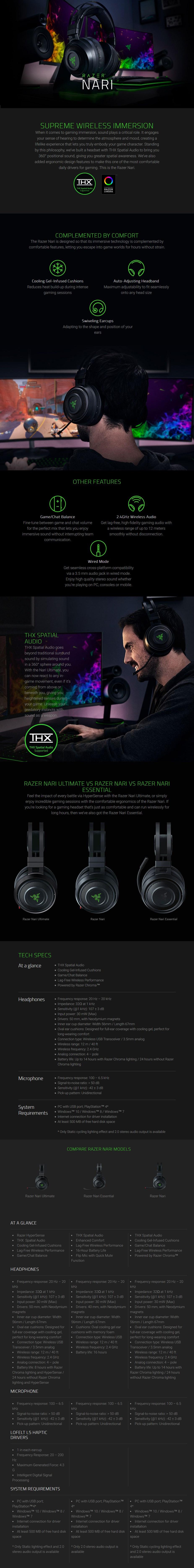 Razer Nari Wireless Gaming Headset - Desktop Overview 1