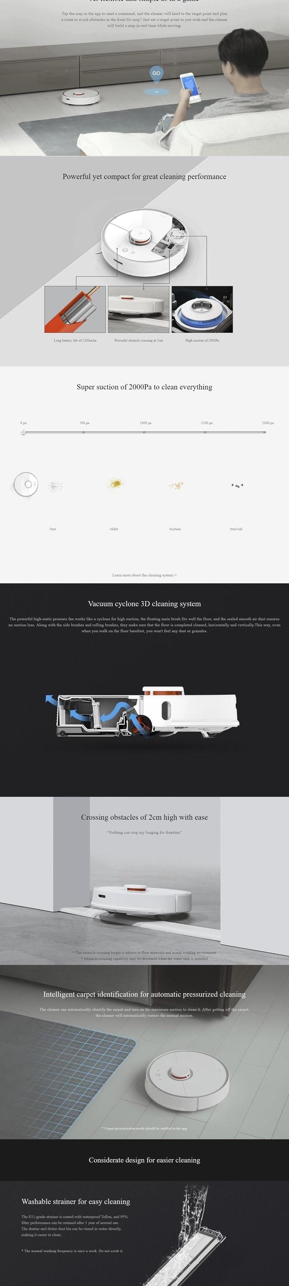 Xiaomi Mi Roborock S50 2nd Gen Vacuum Cleaner - RSD0028AU