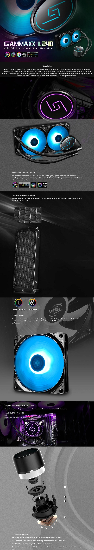 Deepcool Gammaxx L240 RGB LED Liquid CPU Cooler - Desktop Overview 1