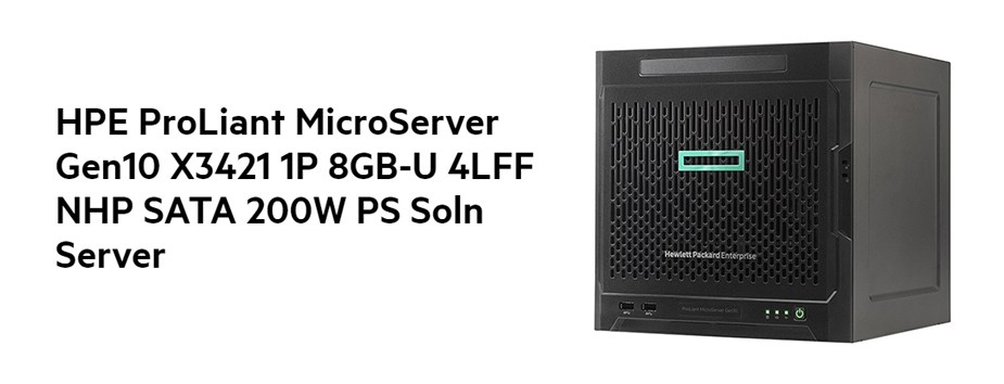 HPE G10 Microtower Server AMD Opteron X3421 8GB HDD (0/4)