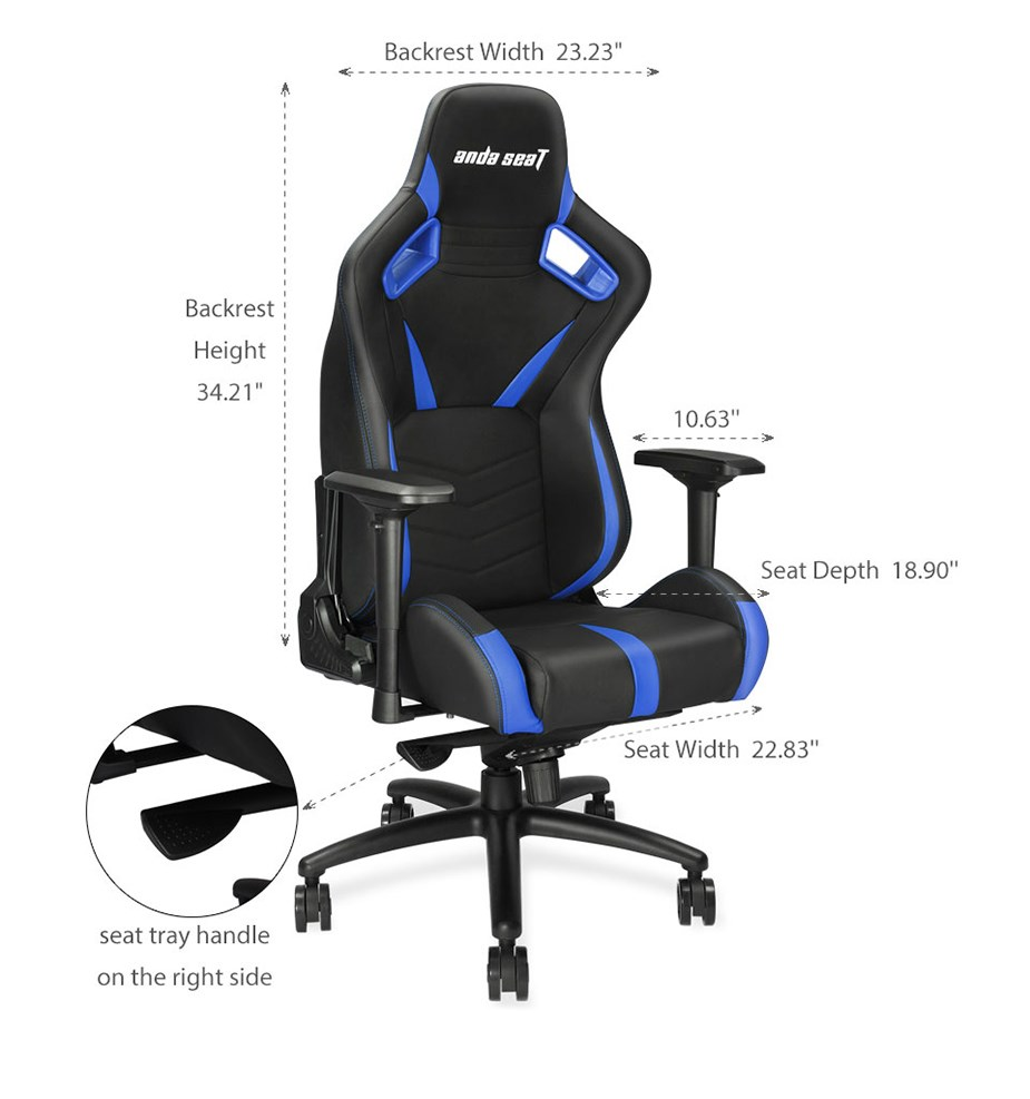 Anda Seat AD12XL-03 Gaming Chair - Black - Desktop Overview 2