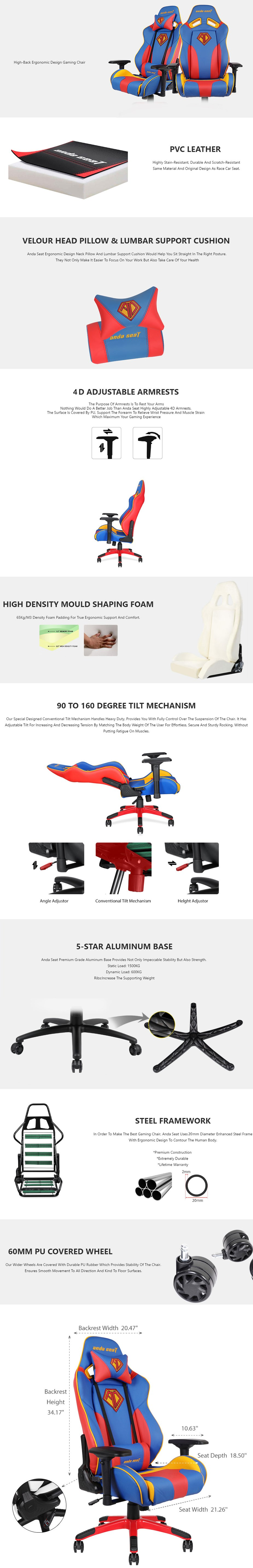 Anda Seat AD7-09 Gaming Chair - Special Edition - Desktop Overview 1