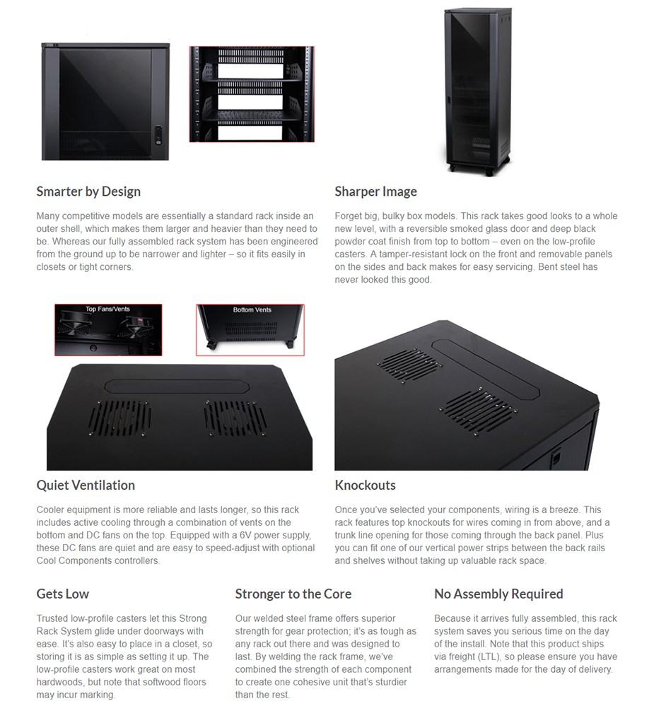 "Strong FS 42U with DC Fans 24"" Depth - Desktop Overview 1"