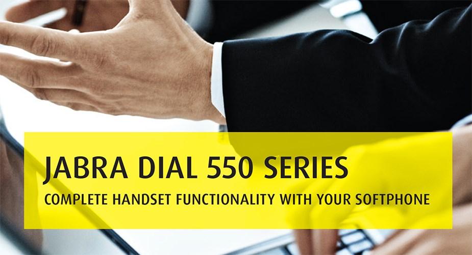 Jabra Dial 550 USB Handset - Desktop Overview 1