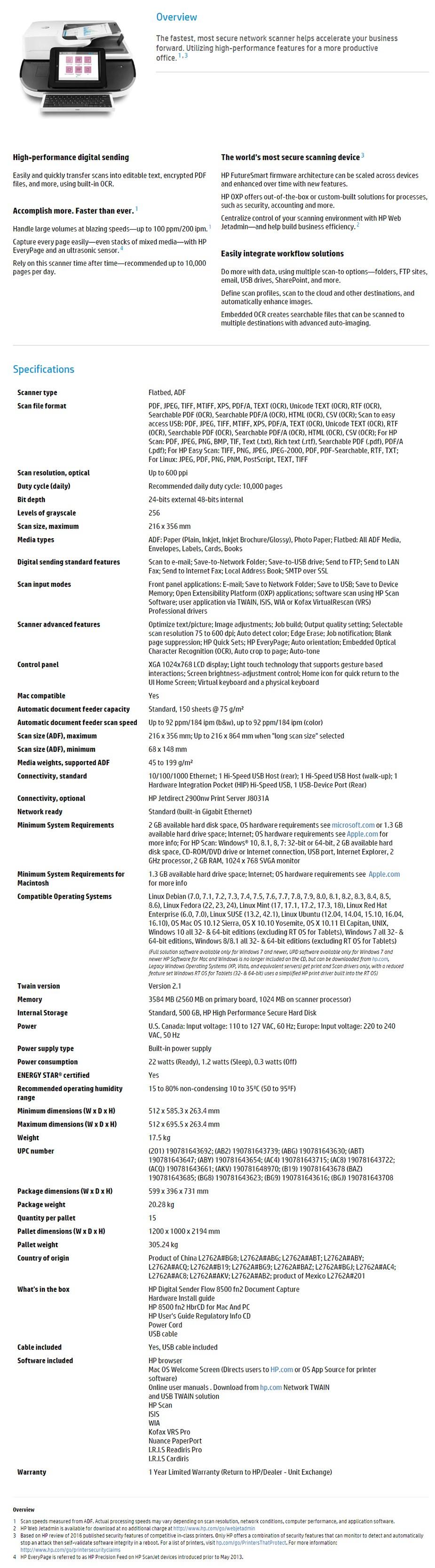 HP Digital Sender Flow 8500 fn2 Document Capture Workstation - Desktop Overview 1