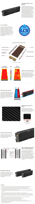 Thermaltake Pacific C360 Radiator - Desktop Overview 1