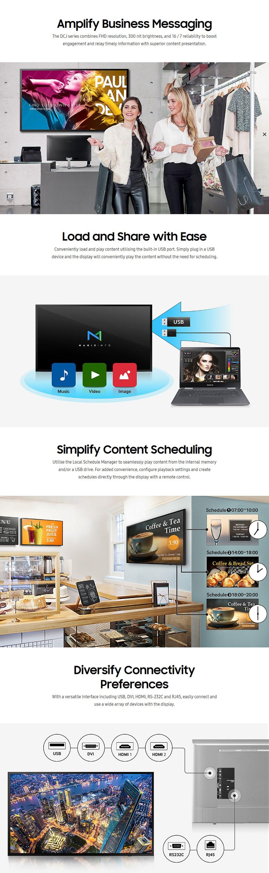 """Samsung DC Series 43"""" Full HD Direct LED Digital Signage - Desktop Overview 1"""