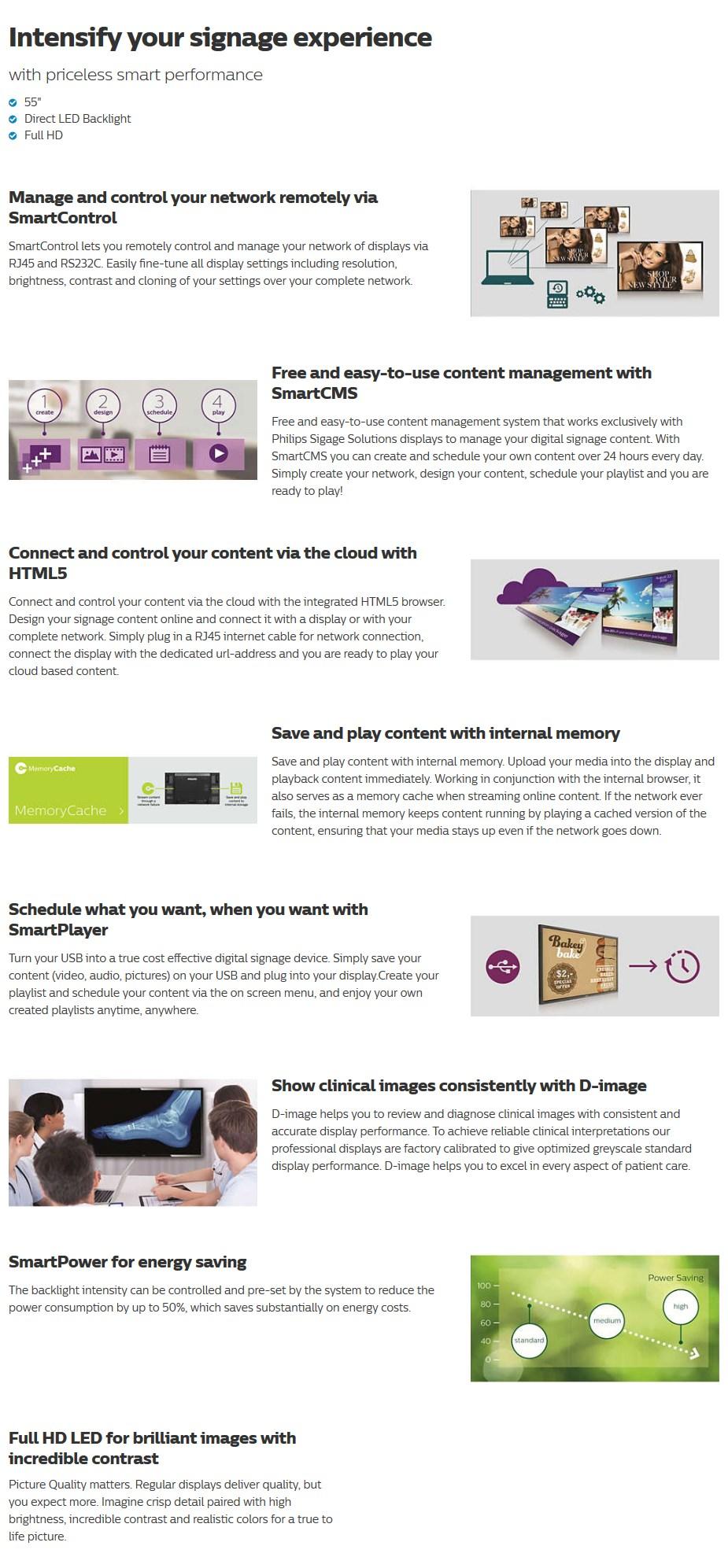 """Philips Q-Line BDL5530QL 55"""" Full HD LED Digital Signage - Desktop Overview 1"""