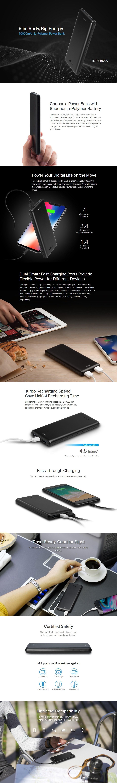 TP-Link TL-PB10000 10000mAh USB Power Bank - Desktop Overview 2